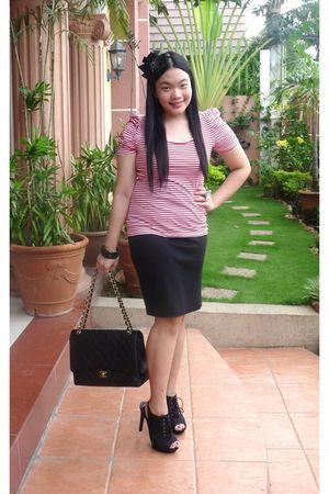 Chanel bag - H&M blouse - Forever 21 skirt - Forever 21 shoes