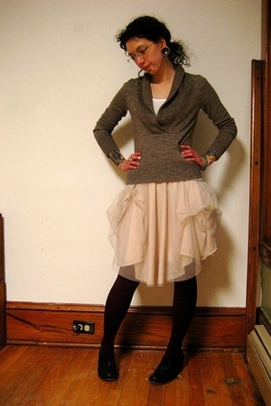 J Crew sweater - American Apparel top - asos skirt - We Love Colors tights - Chi