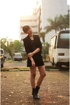 Zara blazer - thrifted dress - unbranded skirt - candyfeet shoes