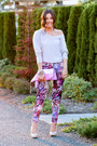 Printed-h-m-pants-foldover-riannaphillips-bag-nude-patent-aldo-heels