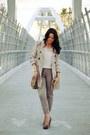 Tan-sirens-jacket-vintage-purse-tan-vince-camuto-heels-ivory-zara-blouse