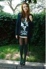 Black-dkny-jacket-beige-h-m-shirt-gray-nordstrom-socks-black-wild-diva-sho