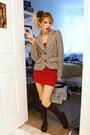 Black-forever-21-blazer-red-american-apparel-dress-black-socks-forever-21-