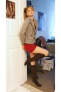 Black-forever-21-blazer-red-american-apparel-dress-black-socks-forever-21-