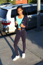 American Apparel shirt - blazer - pants - Conv sneakers