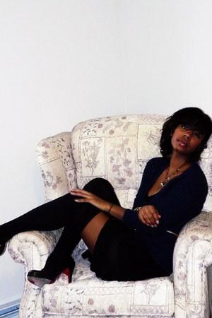 wwwluluscom Lulus dress - vintage sweater - Christian Louboutin heels