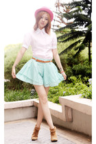 pink H&M hat - green dotted Chemical Dreams Clothing shorts
