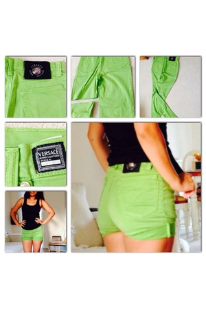 chartreuse versace shorts