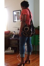 blouse - Express jeans - Old Navy purse