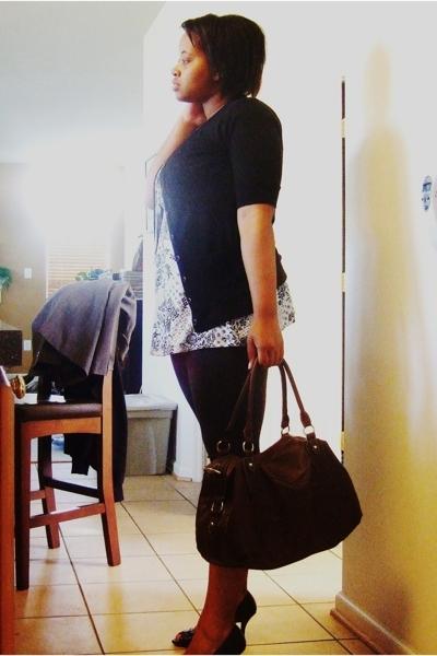 Target sweater - Target shirt - Forever21 leggings - Target purse