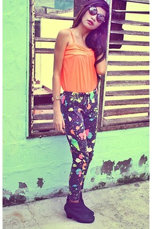 neon colors vintage pants