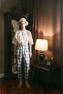 Gray-checkered-fashiontoany-pants