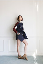 navy top FashionToAny top - navy skirt FashionToAny skirt