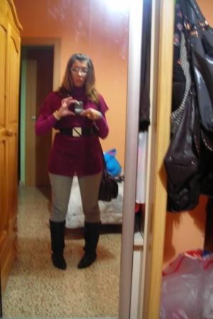 Zara shirt - Springfield WOMAN shirt - pull&bear jeans - Eroski boots - Zara bel