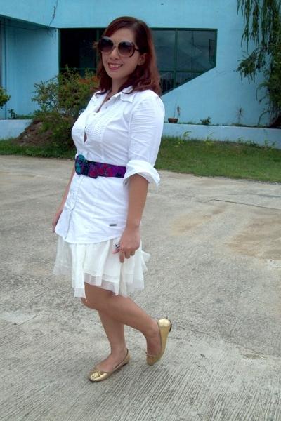 Guess shirt - Bab skirt - vintage belt