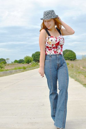 Gap jeans - SM top - Schu heels