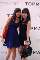 Topshop dress - black leather Kipling bag - Marc by Marc Jacobs watch