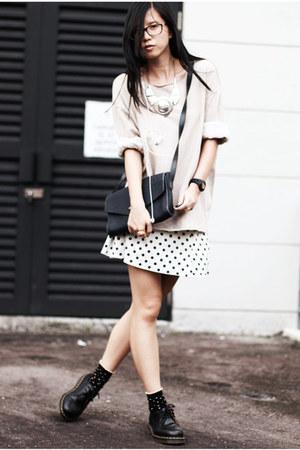 bysi skirt - DKNY jeans sweater - ysl vintage bag