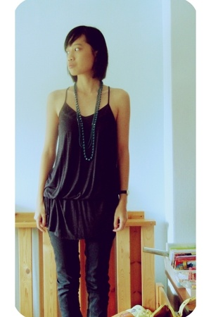 Pull & Bear necklace - giordano top - IP Zone jeans