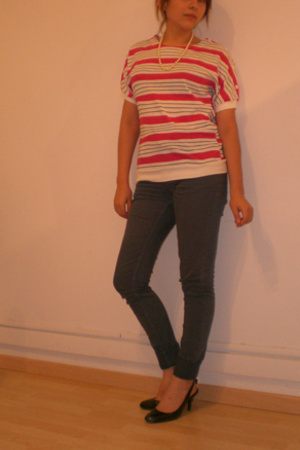 vintage blouse - Cheap Monday jeans - Zara shoes - necklace