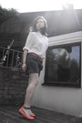 Pink-warehouse-purse-grey-shorts-jack-wills-shorts-vintage-blouse