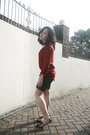 Unknown-shorts-red-checker-next-blouse