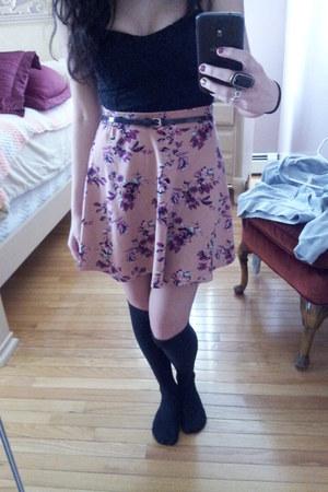 Charlotte Russe skirt - skinny belt Forever 21 belt