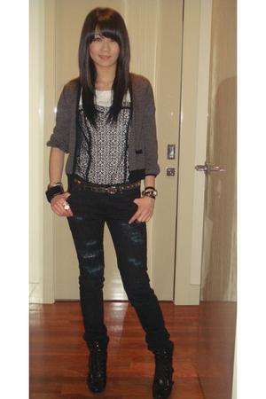 Insight jeans - evil twin top - Nine West shoes - la mer accessories - YSL acces