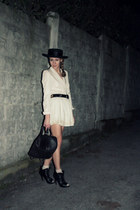 westrags shoes - vintage hat - Zara blazer - Chanel purse - Zara skirt