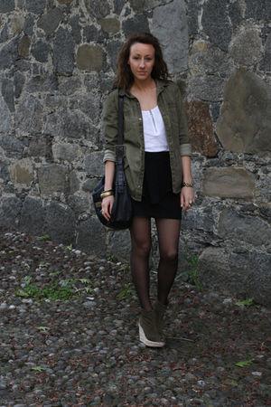 Zara shirt - BERSKA top - H&M skirt - Mango shoes - solo soprani purse - H&M acc
