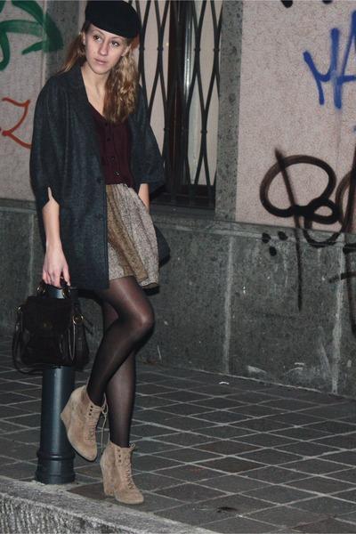 Zara boots - vintage hat - Tatuum blazer - New Yorker purse - H&M cardigan
