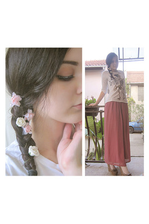 light pink DIY skirt