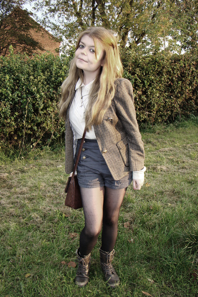 light brown River Island jacket - brown River Island boots