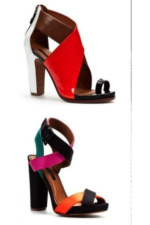 colourful Zara sandals