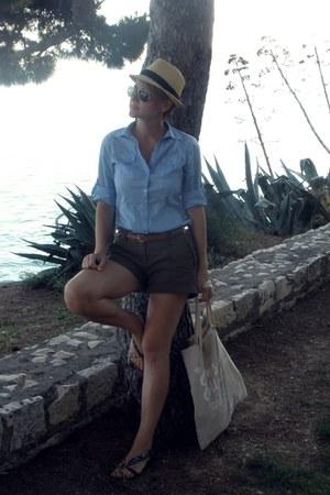 H&M bag - hat - H&M shorts - sunglasses