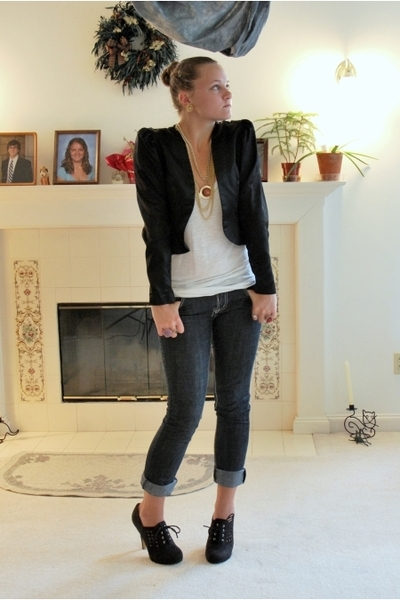 vintage jacket - GoJane shoes - f21 shirt