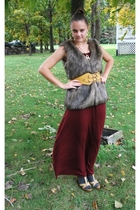 xhiliration vest - Mossimo dress - belt - payless shoes - socks