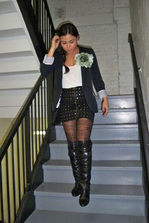 blue Urban Planet blazer - white Club Monaco top - black Forever 21 skirt - blac