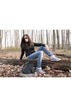 FairweatherMoto Gear jacket - garage jeans - Spring shoes - Costa Blanca purse -