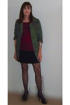 army green cotton trench freebird jacket - maroon Divided sweater
