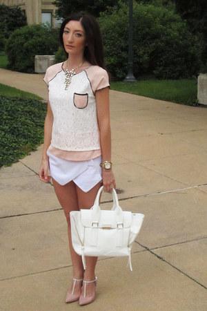 Local store top - just fab purse - Sheinside skirt - Tahari heels