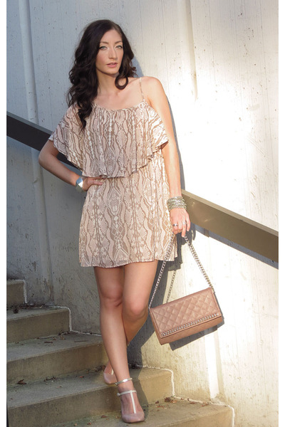 gianni bini dress - Macys purse - Elie Tahari heels