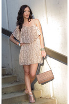 gianni bini dress - Macys purse - Elie Tahari heels