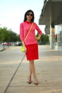 Hot-pink-pink-sweater-jcrew-sweater-yellow-asos-bag