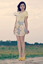 skater Ally skirt - cotton on top - peep-toe ffaq heels