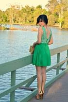 skater Foxxfoe dress - floral peep-toe zu heels