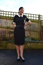 Marks and Spencer dress - Kurt Geiger heels - warehouse belt