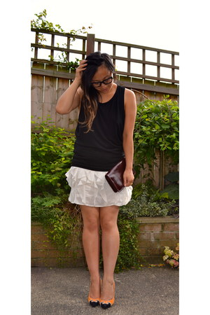 Reiss skirt - Office shoes - vintage bag - OMG Fashion top