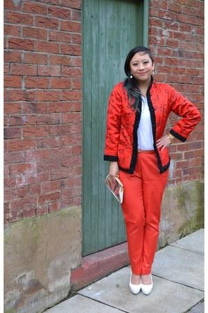 H&M heels - vintage jacket - Banana Taipei bag - M&S t-shirt - H&M pants
