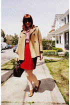 Topshop coat - JCrew shirt - Louis Vuitton bag - Steve Madden loafers - vintage